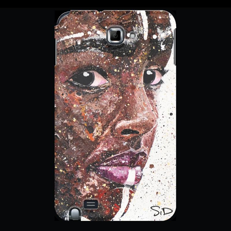 Чехол для Samsung Galaxy Note Printio Эфиопка серова м вся прелесть стриптиза