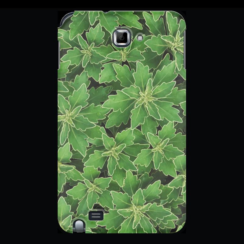 Чехол для Samsung Galaxy Note Printio Зеленые листья