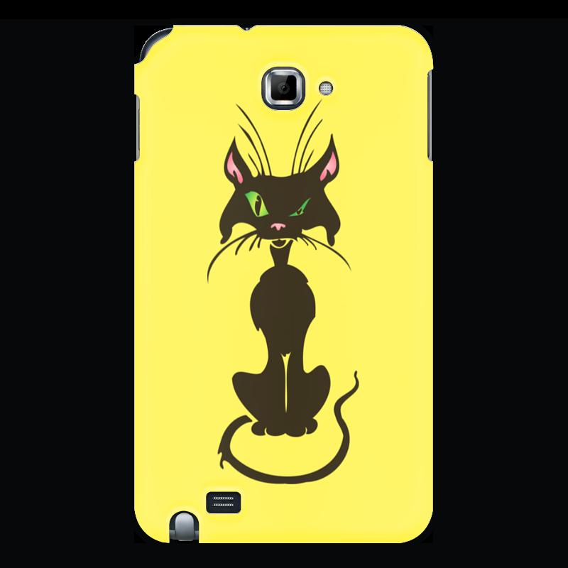Чехол для Samsung Galaxy Note Printio Черный кот стоимость