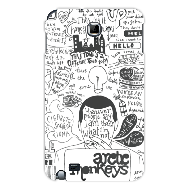 цены Чехол для Samsung Galaxy Note Printio Arctic monkeys