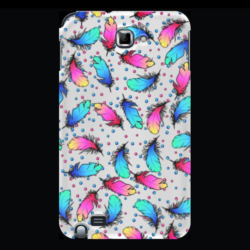 Чехол для Samsung Galaxy Note Printio Яркие перья чехол для для мобильных телефонов rcd 4 samsung 4 for samsung galaxy note 4 iv
