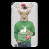 """Чехол для Samsung Galaxy Note """"Олень новогодний в свитере и очках с шариком"""" - новый год, подарок, дед мороз, санта, олень"""