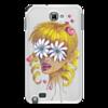 """Чехол для Samsung Galaxy Note """"Без ума от цветов"""" - любовь, девушка, цветы, сердца, блондинка"""
