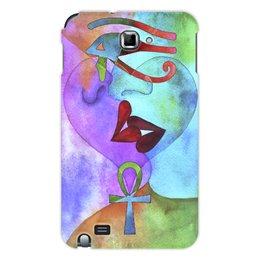 """Чехол для Samsung Galaxy Note """"Бесконечная любовь"""" - сердце, любовь, губы, абстракция, поцелуй"""
