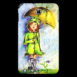 """Чехол для Samsung Galaxy Note """"Дождик, дождик, уходи!"""" - дети, детское, ручная работа, детский рисунок, детская работа"""