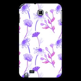 "Чехол для Samsung Galaxy Note ""Winter camomile"" - арт, ромашка, подарок, паттерн"