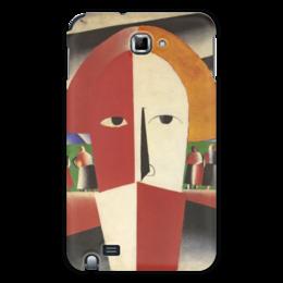 """Чехол для Samsung Galaxy Note """"Голова крестьянина (Казимир Малевич)"""" - картина, живопись, малевич"""