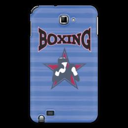 "Чехол для Samsung Galaxy Note ""Боксер"" - звезда, надпись, полоска, бокс, боксер"