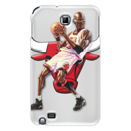 "Чехол для Samsung Galaxy Note ""Michael Jordan Cartooney"" - 23, чикаго, бык, chicago bulls, джордан"