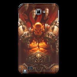 "Чехол для Samsung Galaxy Note ""WarCraft Collection: ork"" - wow, warcraft, орк, world of warcraft, варкрафт"