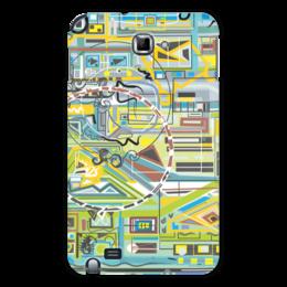"Чехол для Samsung Galaxy Note ""Березка"" - арт, абстракция, фигуры, бирюзовый"