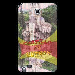 """Чехол для Samsung Galaxy Note """"Замки Испании. Замок Бутрон."""" - желтый, испания, замок, полоски, крепость"""