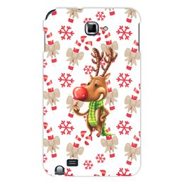 """Чехол для Samsung Galaxy Note """"новый год"""" - новый год, зима, подарки, снежинки, олень"""