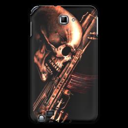 "Чехол для Samsung Galaxy Note ""ДО КОНЦА!!!"" - skull, weapon"