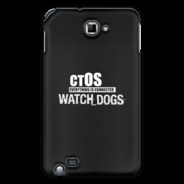"Чехол для Samsung Galaxy Note ""Чехол Samsung Galaxy Note ""Watch_Dogs"" by PJ"" - pjstore, watchdogs, special, ctos"