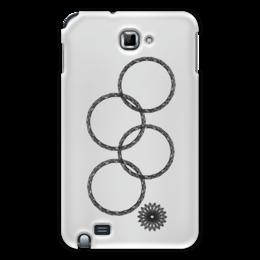 """Чехол для Samsung Galaxy Note """"Нераскрывшееся кольцо (снежинка)"""" - олимпиада, сочи 2014, нераскрывшееся кольцо, нераскрывшаяся снежинка, олимпийская эмблема"""