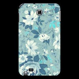"""Чехол для Samsung Galaxy Note """"Цветы. Акварель"""" - цветы, белый, листья, синий, акварель"""