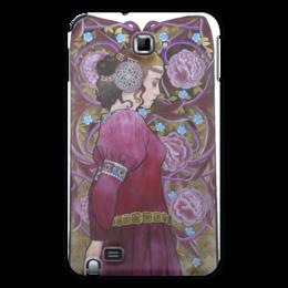 """Чехол для Samsung Galaxy Note """"Задумчивость"""" - девушка, цветы, средневековье"""
