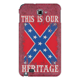 "Чехол для Samsung Galaxy Note ""Флаг Конфедерации США"" - война, америка, флаг, сша, флаг конфедерации"