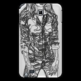 """Чехол для Samsung Galaxy Note """"Шейный платок"""" - девушка, фигура, черный, галстук, рубашка"""