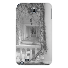 """Чехол для Samsung Galaxy Note """"Осень"""" - осень, архитектура, фонари, пустой дом, колонна и растение"""