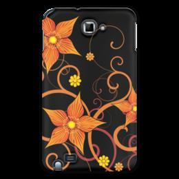 """Чехол для Samsung Galaxy Note """"Цветочный"""" - цветы, узор, орнамент, стиль, рисунок"""