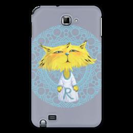 """Чехол для Samsung Galaxy Note """"Рысёнок"""" - кот, рисунок, детский, рысь, мультяшный"""