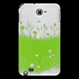 """Чехол для Samsung Galaxy Note """"Летняя трава"""" - бабочки, лето, цветы, трава, стрекозы"""