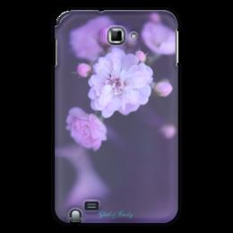 """Чехол для Samsung Galaxy Note """"Glad & Curly """" - цветы, розовый, фотография, розы"""