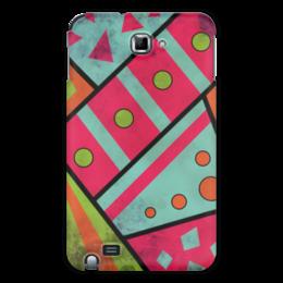 """Чехол для Samsung Galaxy Note """"Яркая геометрия"""" - полосы, круги, геометрия, треугольники"""