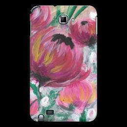 """Чехол для Samsung Galaxy Note """"Полевые цветы"""" - лето, цветы, весна, розовый, подарок"""