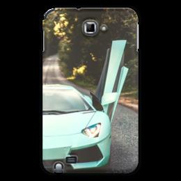 "Чехол для Samsung Galaxy Note ""Lamborghini"" - авто, половинка, фара, престиж"