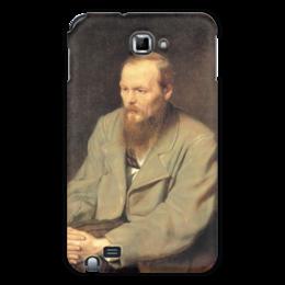 """Чехол для Samsung Galaxy Note """"Достоевский"""" - прикольно, девушка, стиль, популярные, мужская, женская, рисунок, прикольные, в подарок, оригинально"""