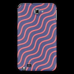 """Чехол для Samsung Galaxy Note """"Волнистый"""" - узор, рисунок, полосы, стильный, волны"""