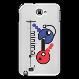 "Чехол для Samsung Galaxy Note ""Минимал"" - арт, music, techno, minimal, deep"