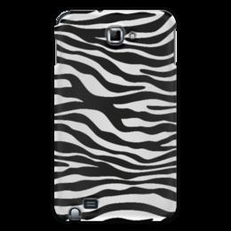 "Чехол для Samsung Galaxy Note ""Зебра"" - зебра, белый, чёрный, дизайн, графика"