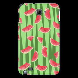 """Чехол для Samsung Galaxy Note """"Арбуз"""" - полоска, красный, ягода, зеленый, семена"""