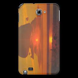 "Чехол для Samsung Galaxy Note ""Красный закат (картина Архипа Куинджи)"" - картина, архип куинджи"