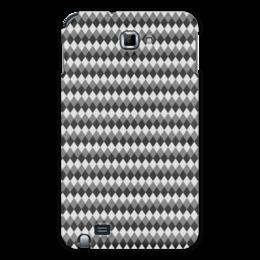 "Чехол для Samsung Galaxy Note ""Три оттенка серого"" - узор, серый, геометрия, ромб, фон"