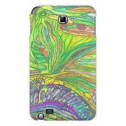 "Чехол для Samsung Galaxy Note ""Ом Дракон самсунг Гэлакси ноте идишн"" - trottart, trotinkaspace, trotinka, дракон, психоделика"