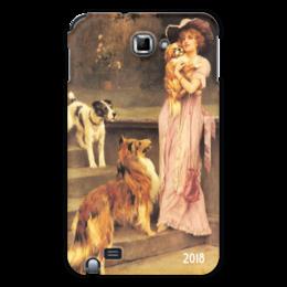 """Чехол для Samsung Galaxy Note """"2018 год Собаки"""" - новый год, настроение, картина, собака, теплый"""