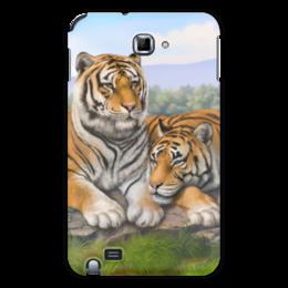 """Чехол для Samsung Galaxy Note """"Тигры"""" - природа, тигры, сопки"""