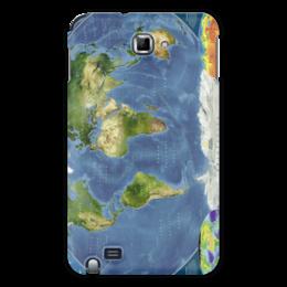 """Чехол для Samsung Galaxy Note """"Карта мира"""" - мир, карта, спутник, география"""