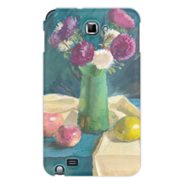 "Чехол для Samsung Galaxy Note ""Астры"" - цветы, дизайн, картина, натюрморт, гуашь"