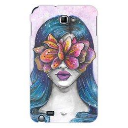 """Чехол для Samsung Galaxy Note """"Весна"""" - праздник, девушка, цветы, 8 марта, весна"""