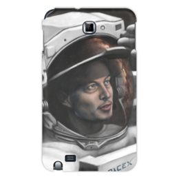 "Чехол для Samsung Galaxy Note ""SpaceX"" - космос, вселенная, thespaceway, spacex, маск"