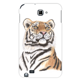 """Чехол для Samsung Galaxy Note """"Взгляд тигра"""" - хищник, животные, взгляд, тигр, зверь"""