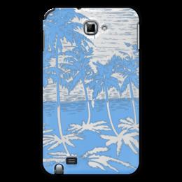 """Чехол для Samsung Galaxy Note """"Пальмы"""" - небо, отражение, вода, пальмы"""