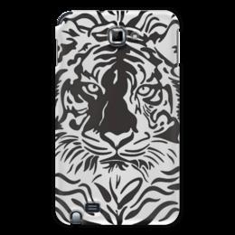 "Чехол для Samsung Galaxy Note ""Взгляд Тигра"" - рисунок, взгляд, графика, тигр, чёрное и белое"