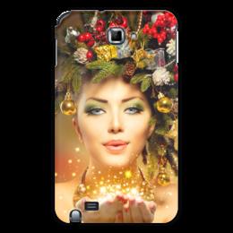 """Чехол для Samsung Galaxy Note """"Девушка"""" - девушка, новый год"""
